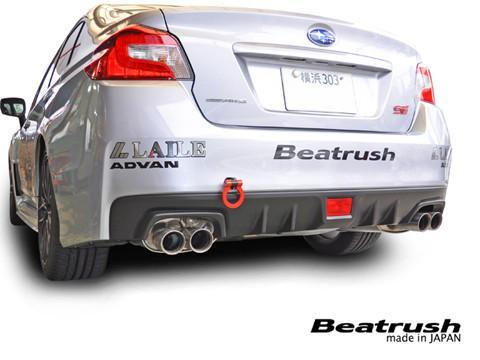 Beatrush Rear Tow Hook - 2015+ Subaru WRX - STI - Red
