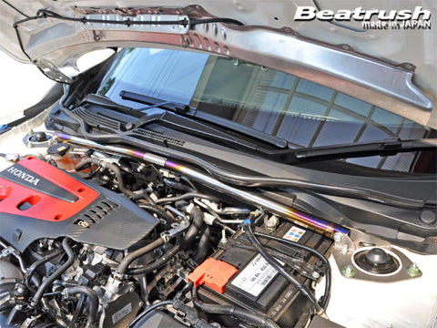 Beatrush Titanium Front Strut Bar for Civic Type R FK8 & Civic Hatchback FK7