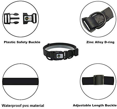 NIMBLE Dog Leash and Collar Set 5FT Strong Reflective Dog Leash