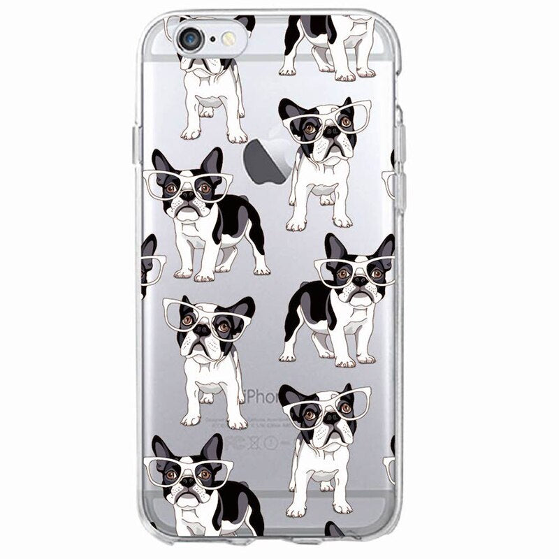 Pug Bunny Cat French Bulldog Soft Phone Case For iPhone 11 Pro 7Plus 6 6S 8 8plus X XS Max 1