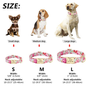 Dog Tag Personalized Nameplate Nylon Collar