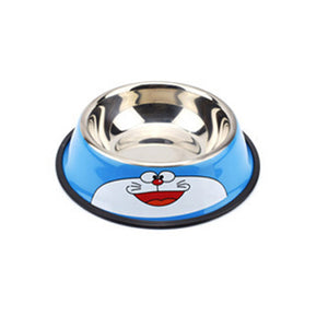 Panda Bowl Cat Cartoon Stainless Steel Dog Bowl