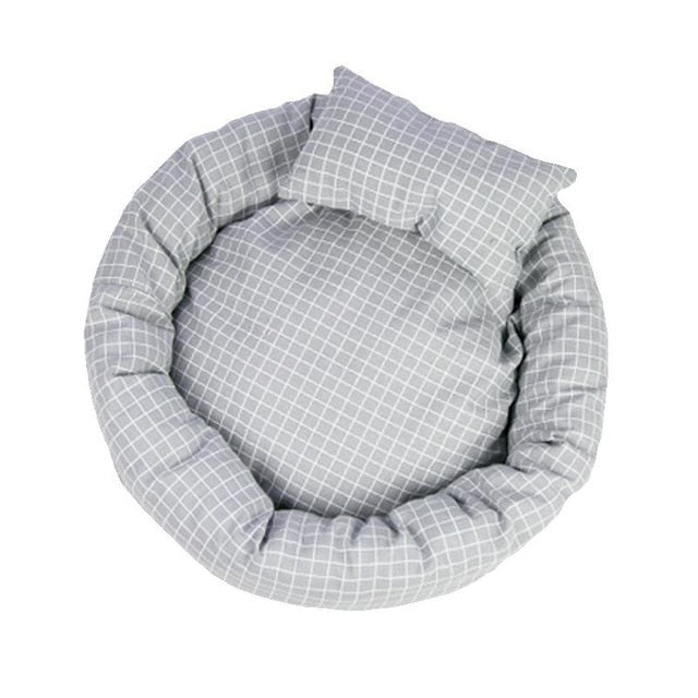 Plaid Cat Bed