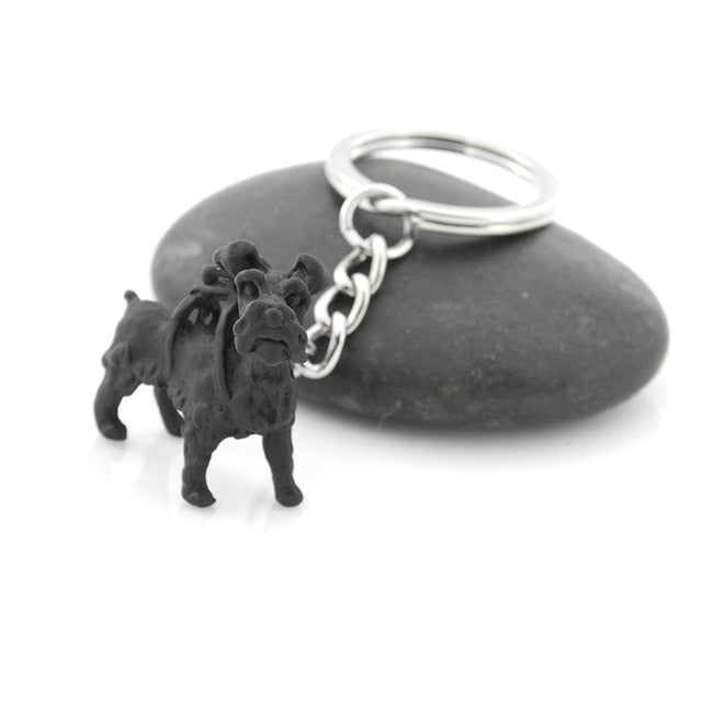 Vintage French Bulldog  Dachshund Schnauzer Pug English Bulldog Metal Dog Key Chains Keychains