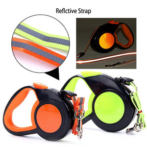 5/8M Durable Retractable Dog Leashes Reflective