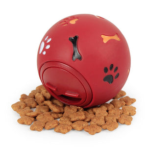 Dog Toy Rubber Ball Chew Dispenser