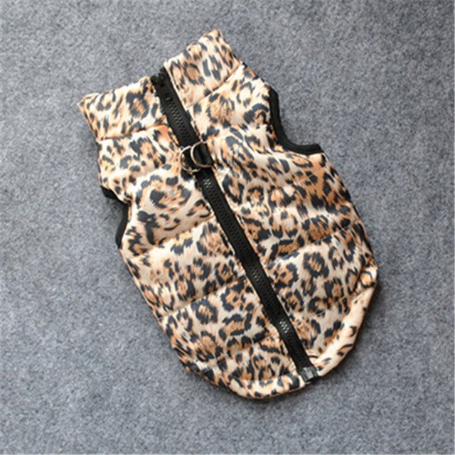 Winter Warm leopard print dog clothes