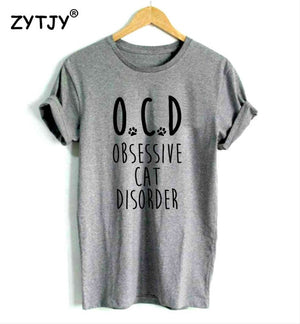 obsessive cat disorder Women tee shirt
