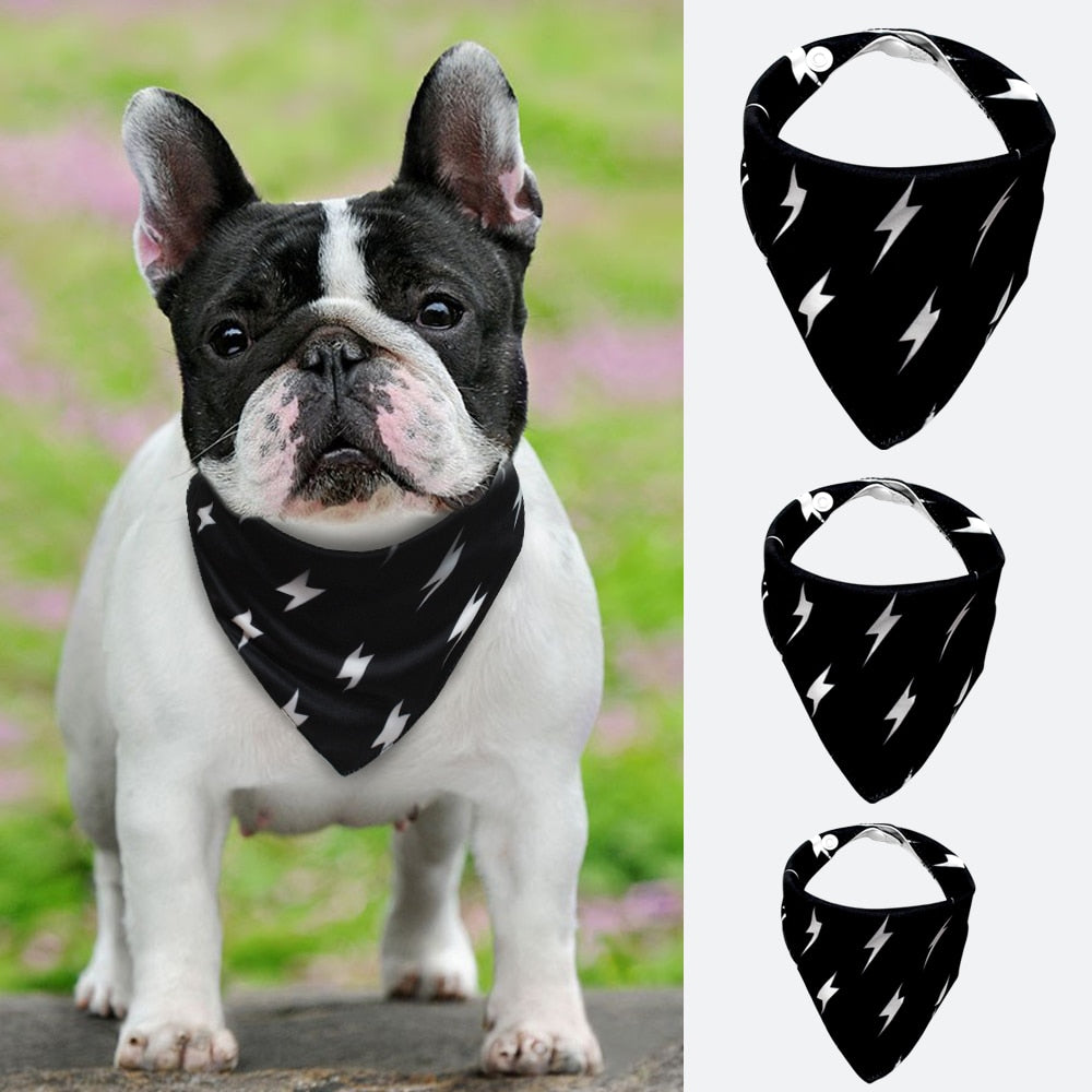 Lighting Bolt Dog Bandana Collar