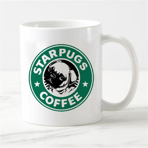 Pug Dog Magic Coffee Mug Green Starpugs