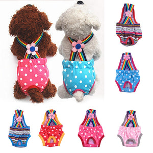 Polka Dot Striped Female Dog Sanitary Clothes