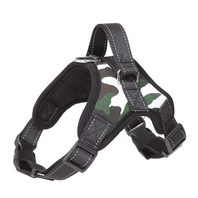 Nylon Reflective Collar Vest Harnesses For Dogs