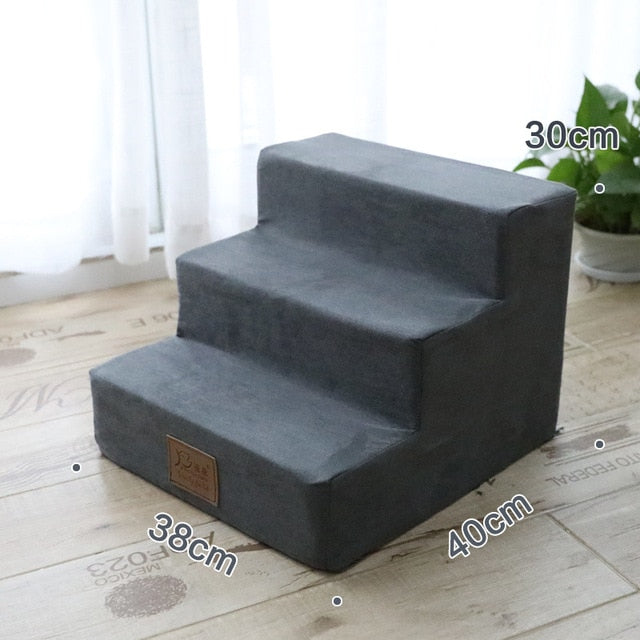 3 Steps Dog Stairs Breathable Anti-slip Waterproof Pet Climbing Ladder