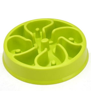Portable Slow Down Eating Dog Feeding Food Bowls