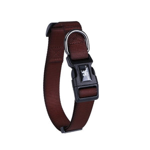 19 Colors Adjustable Nylon Strap Dog Collar