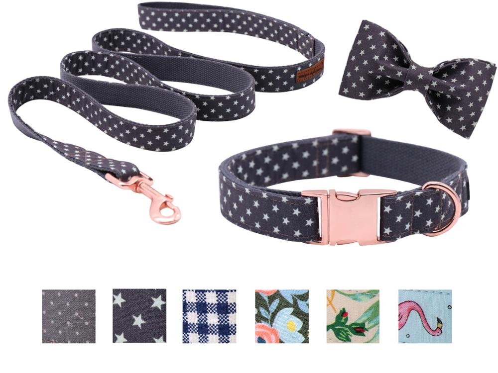 Unique Style Paws Dog or Cat Collar or Leash Little Stars Design Pet Collars for Dogs