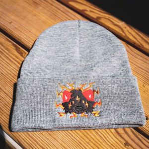 Embroidered Boltie Beanie