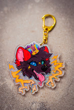 Load image into Gallery viewer, HOLO Hypno Boltie Acrylic Charm