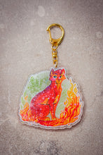 Load image into Gallery viewer, HOLO Firestar Acrylic Charm