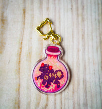 Load image into Gallery viewer, Zap! In a bottle Acrylic Charm (Background Variant)