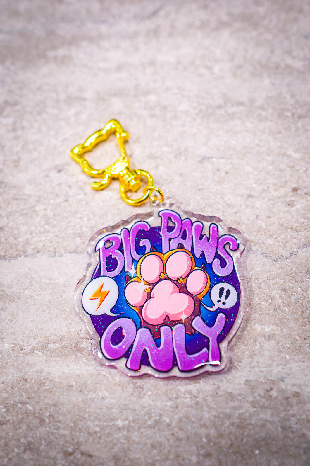 Big Paws Only Acrylic Charm