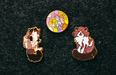 Trio (set of pins)