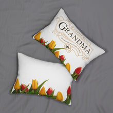 Load image into Gallery viewer, The Very Best Grandma Decorative Accent Lumbar Pillow Front and Back