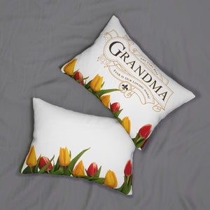 The Very Best Grandma Decorative Accent Lumbar Pillow Front and Back
