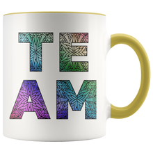 Load image into Gallery viewer, Team Watercolors Diversity Accent Coffee Cup Yellow