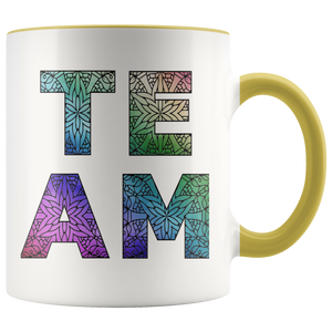 Team Watercolors Diversity Accent Coffee Cup Yellow