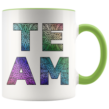 Load image into Gallery viewer, Team Watercolors Diversity Accent Coffee Cup Green
