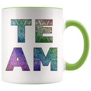 Team Watercolors Diversity Accent Coffee Cup Green