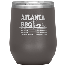 Load image into Gallery viewer, Atlanta BBQ Timer Wine Tumbler Pewter