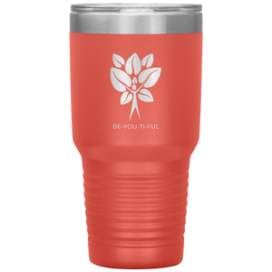 Be-You-Ti-Ful Tree Stainless Steel Tumbler Coral