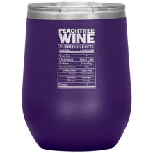 Load image into Gallery viewer, Peachtree Wine Facts Tumbler Purple