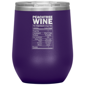 Peachtree Wine Facts Tumbler Purple