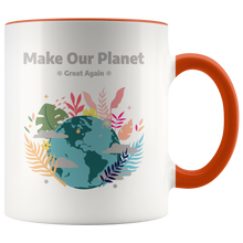 Load image into Gallery viewer, Make Our Planet Great Again Accent Coffee Cup Orange
