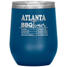 Load image into Gallery viewer, Atlanta BBQ Timer Wine Tumbler Blue