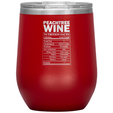 Load image into Gallery viewer, Peachtree Wine Facts Tumbler Red