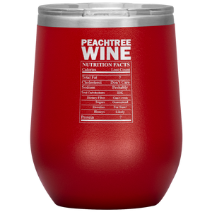 Peachtree Wine Facts Tumbler Red