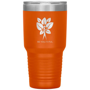 Be-You-Ti-Ful Tree Stainless Steel Tumbler Orange