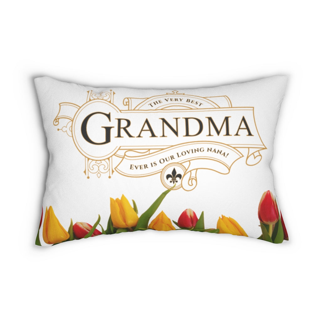 The Very Best Grandma Decorative Accent Lumbar Pillow