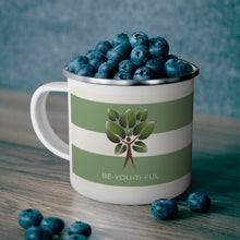 Load image into Gallery viewer, Be-You-Ti-Ful Tree Metal Coffee Cup Blueberries