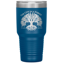 Load image into Gallery viewer, Atlanta City in a Forest Tumbler Blue