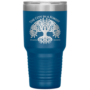 Atlanta City in a Forest Tumbler Blue