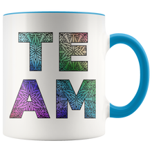 Load image into Gallery viewer, Team Watercolors Diversity Accent Coffee Cup Blue