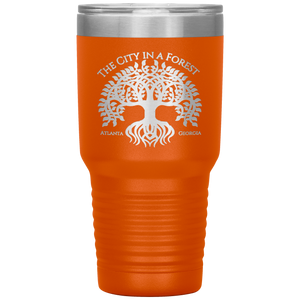Atlanta City in a Forest Tumbler Orange