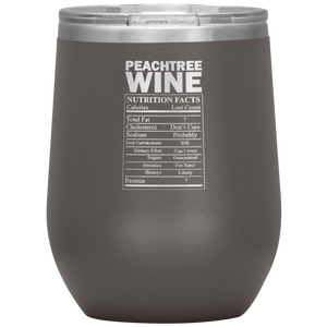 Peachtree Wine Facts Tumbler Pewter