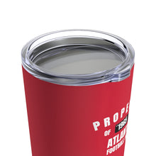 Load image into Gallery viewer, Atlanta Football Fan Stainless Steel Tumbler Lid On