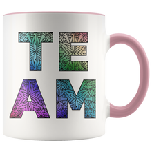 Load image into Gallery viewer, Team Watercolors Diversity Accent Coffee Cup Pink